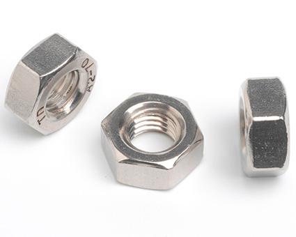 Stainless Steel Left Hand Thread Hexagon Full Nuts