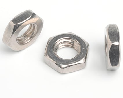 Stainless Steel Left Hand Thread Hexagon Thin Nuts