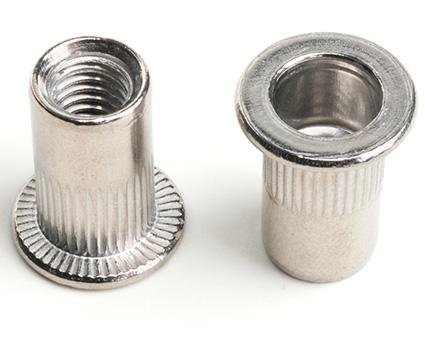 Stainless Steel Flat Head Knurled Insert Nut