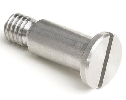 Stainless Steel Low Head Slotted Shoulder Screws