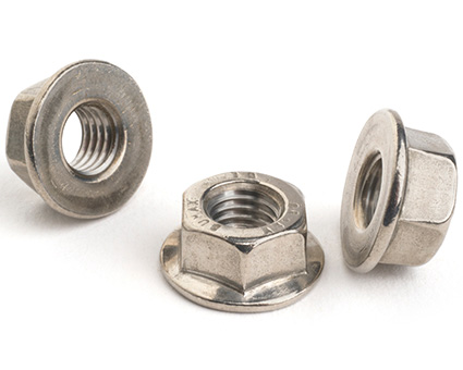 Stainless Steel All Metal Self Locking Flanged Nut