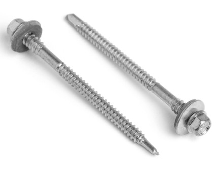 Stainless Steel Hexagon Head Bi-Metal Tek 3 Composite Panel Screws 16mm Sealing Washer